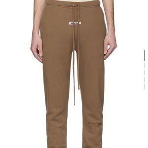 Essentials Tan Fleece Sweatpants medium